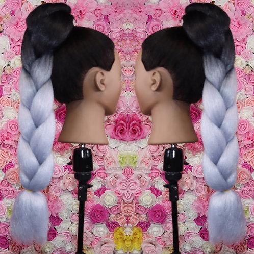 Galactic gray - High Quality OMBRE braiding Hair
