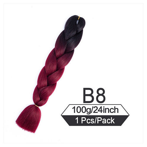 Pretty in Plum  - Luxury High Quality OMBRE braiding Hair