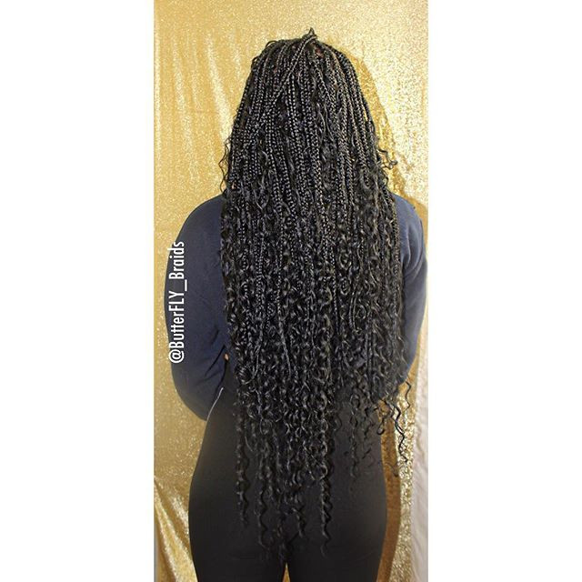 Butterfly Braids Knotless Box Braids