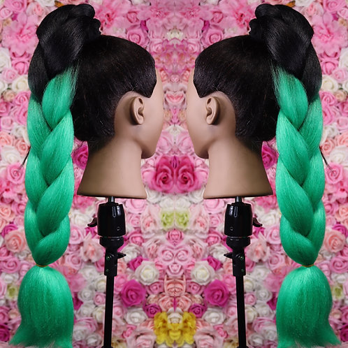 Green  glow - Luxury High Quality OMBRE braiding Hair
