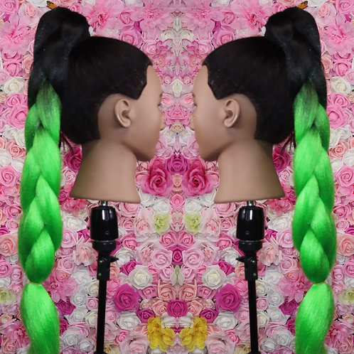 Get money green  - Luxury High Quality OMBRE braiding Hair