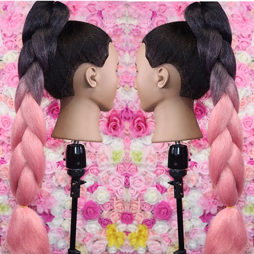 Pink play  date - Luxury High Quality OMBRE braiding Hair
