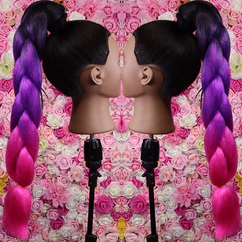 Pink passion - High Quality 3 color OMBRE braiding Hair