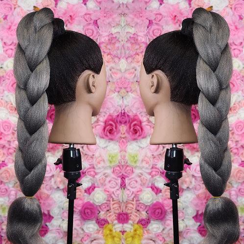 Gray like gravity - Luxury Braiding High Quality Hair
