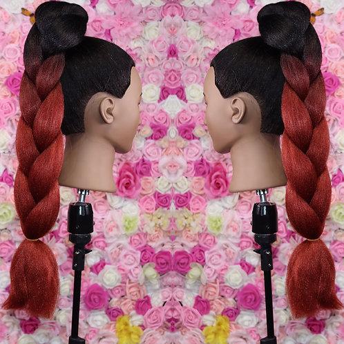 No cap cognac - High Quality OMBRE braiding Hair