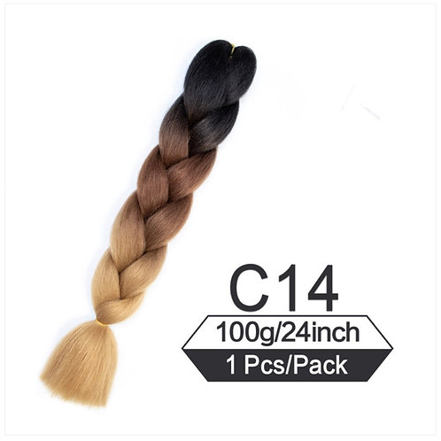 Classy ombre - High Quality 3 color OMBRE braiding Hair