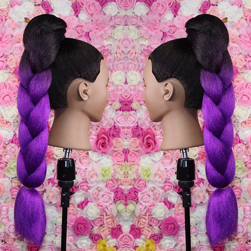 More Purple please - Luxury High Quality OMBRE braiding Hair