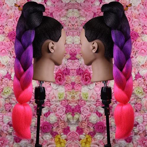 Dont temp me trio - High Quality 3 color OMBRE braiding Hair