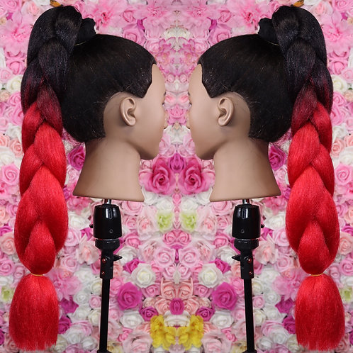 Red ombre - Luxury High Quality OMBRE braiding Hair