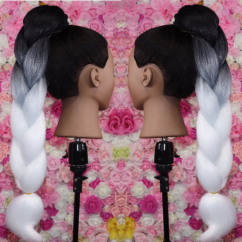 Half white - Luxury High Quality OMBRE braiding Hair