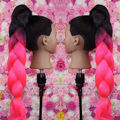 Electric pink ombre- Luxury High Quality OMBRE braiding Hair