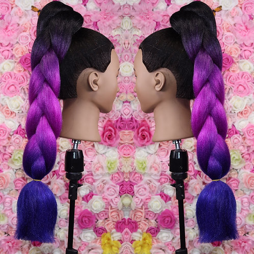 Galaxy glow - High Quality 3 color OMBRE braiding Hair