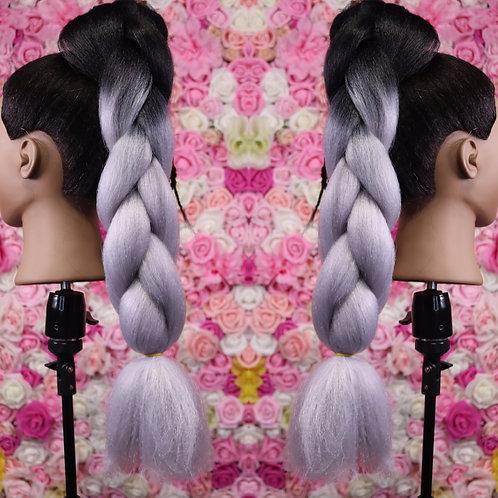Glamorous gray - High Quality OMBRE braiding Hair