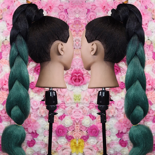 No regrets Green  - Luxury High Quality OMBRE braiding Hair