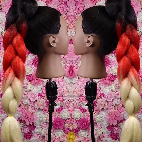 Hot Sauce - High Quality 3 color OMBRE braiding Hair