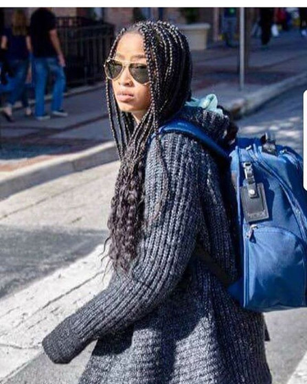 Giving me #kekepalmer #vibes _Butterfly_Braids and #chillin