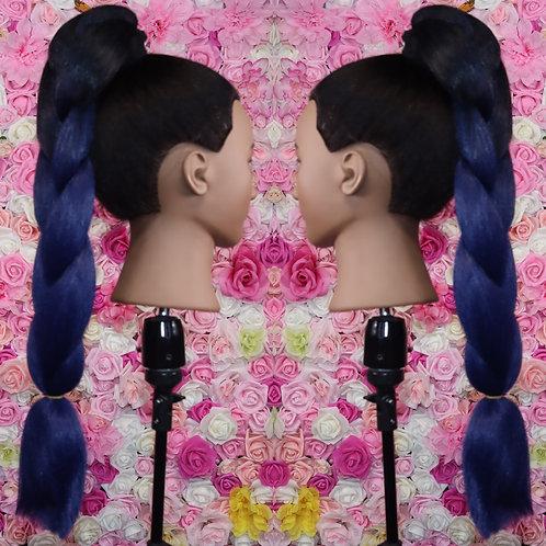 Brooklyn blue - Luxury High Quality OMBRE braiding Hair