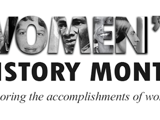 March Newsletter - Celebrating Women's' History Month 2020