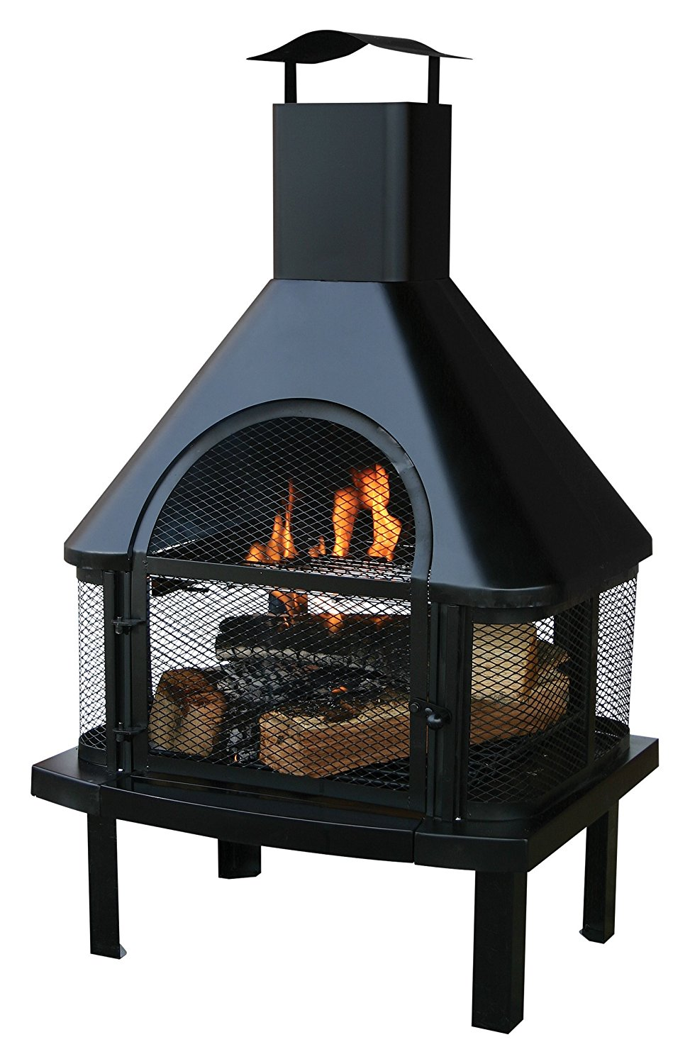Uniflame Firehouse with Chimney, Black $122.99
