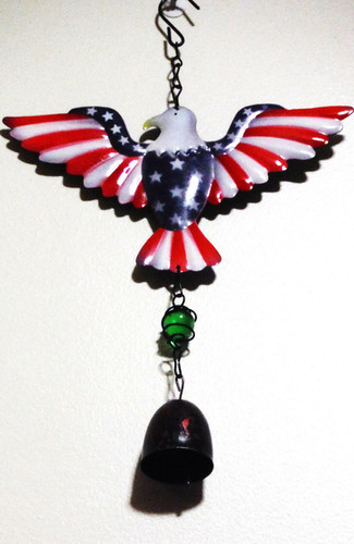 4TH OF JULY BALD EAGLE DOOR CHIME WITH B