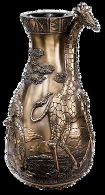 African Wild life Giraffe Sculptural Bas