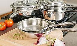 360 Stainless Steel Cookware Set, Handcr