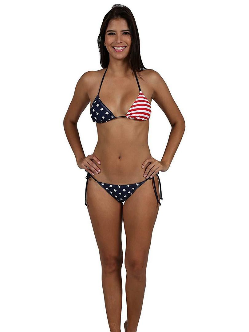 AMERICAN FLAG USA Bikini Set Triangle Ci