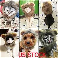 Furry Pet Hat Costume Lion Mane Wig For