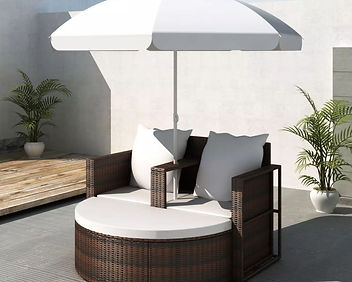 New Cushioned Rattan Patio Set Outdoor F