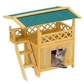 Wooden Pet House Cat Room Dog Puppy Kenn
