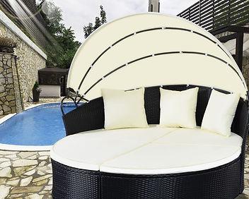 Outdoor Patio Sofa Furniture Round Retra
