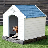 Plastic Dog House Pet Puppy Shelter Wate