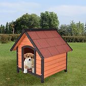 New Dog House Pet Outdoor Bed Wood Shelt