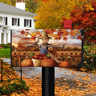 Scarecrow Harvest Magnetic Mailbox Cover