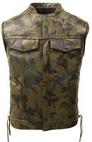 Men's Made in USA Leather Camouflage Bik