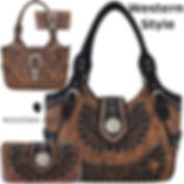 Western Concho Country Purse Concealed C