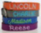 Embroidered Nylon Dog Collar Personalize