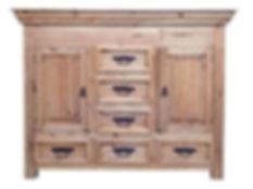 Rustic Small Dresser with Hidden Lockabl