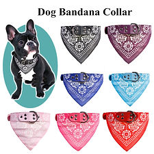 New Cute Adjustable Dog Bandana Collar P