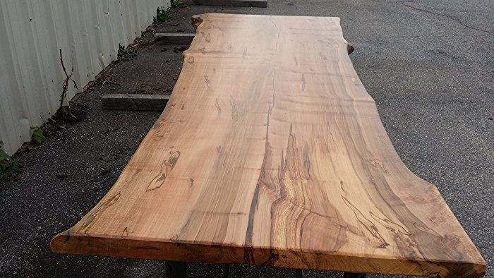 Highly Figuredd Live Edge Ambrosia Maple Slab Dining Table Top - NO BASE $3,685 + $460 shiping