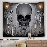 Skull Print Home Decor Background Hangin
