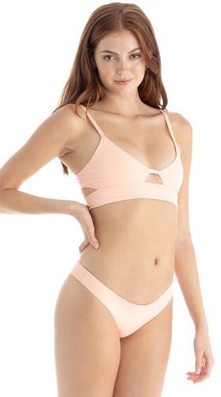 Ali Tropical Peach Seamless Bikini Botto