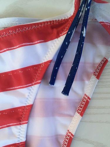 Women American Flag Print BIkini Summer