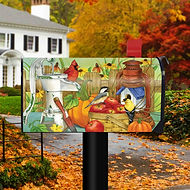 Autumn Display Birds Magnetic Mailbox Co