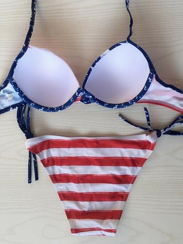 American Flag Print BIkini Summer Two Pi