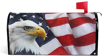 Magnetic Mailbox Cover American Flag Eag