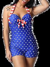 American Flag One Piece Bikini Swimwear