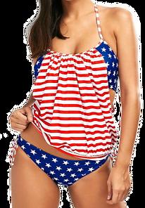 Red White Blue Patriotic Push Up Swimsuit