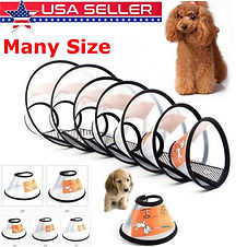 Dog Cat Comfy Cone Collar Pets Bathing W