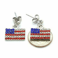 Patriotic Red White Blue American Usa Fl